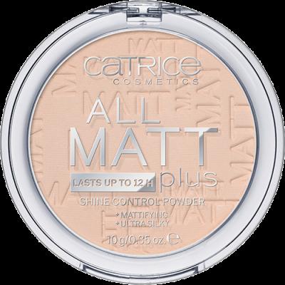 Пудра компактная CATRICE All Matt Plus Shine Control Powder 010 Transparent светло-бежевый: фото