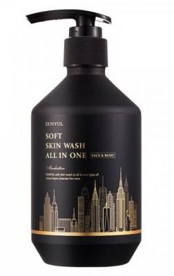 Пенка Многофункциональная для мужчин EUNYUL Soft skin wash all in one 250 мл: фото
