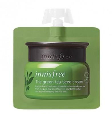 Крем интенсивный увлажняющий на основе семян зеленого чая INNISFREE The Green Tea Seed Cream 5ml: фото