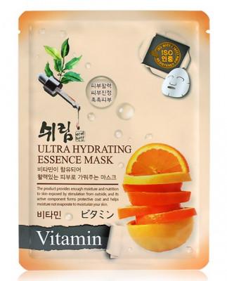 Маска тканевая с витаминами Shelim Ultra Hydrating Essence Mask Vitamin 25мл: фото