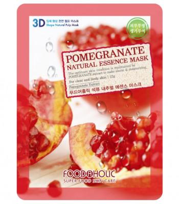 Тканевая 3D маска с экстрактом граната FoodaHolic Pomegranate Natural Essence Mask 23мл: фото
