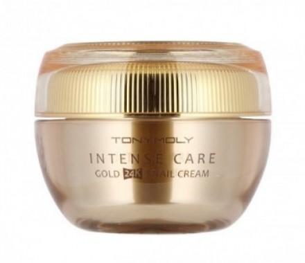 Крем антивозрастной улиточный с золотом TONY MOLY Intense care gold 24k snail cream 45 мл: фото