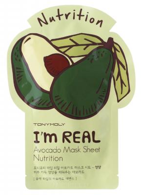 Маска с экстрактом авокадо TONY MOLY I'm avocado mask sheet 21 мл: фото