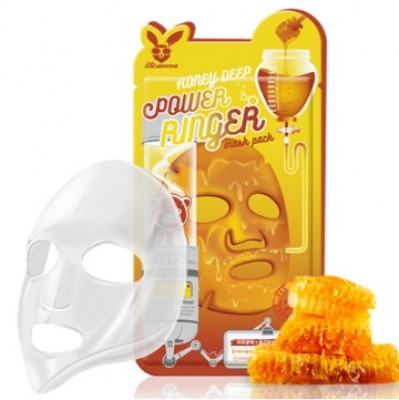 Маска тканевая с медом ELIZAVECCA Honey deep power ringer mask pack 23мл: фото