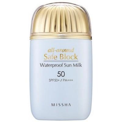 Солнцезащитное водостойкое молочко '18 MISSHA All Around Safe Block Water Proof Sun Milk SPF50+/PA_40ml: фото