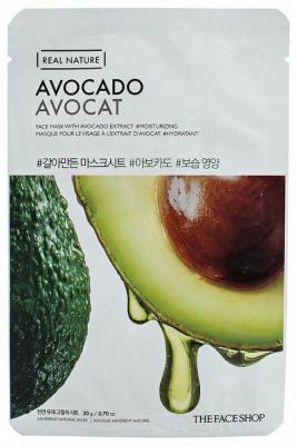 Маска с экстрактом авокадо THE FACE SHOP Real nature mask sheet avocado 20мл: фото
