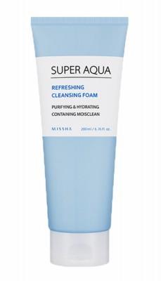 Пенка очищающая MISSHA Super Aqua Refreshing Cleansing Foam: фото