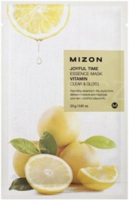 Тканевая маска с витамином С MIZON Joyful time essence mask vitamin С 23г: фото