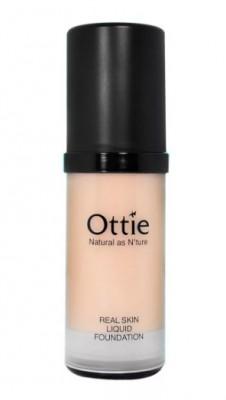 Тональная основа под макияж OTTIE Real Skin Liquid Foundation Ecuador №03 30мл: фото