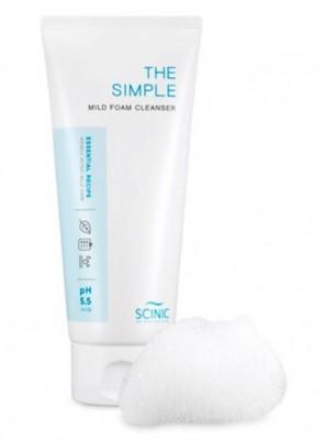 Слабокислотная пенка для умывания SCINIC The Simple Mild Foam Cleanser 120мл: фото