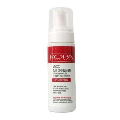 Мусс для умывания проблемной и жирной кожи с пребиотиками KORA 160мл: фото