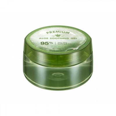 Гель успокаивающий MISSHA Premium Aloe Soothing Gel 300 мл: фото