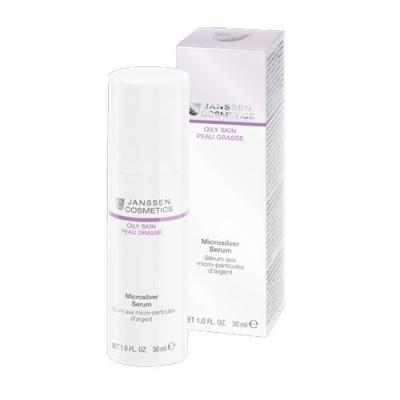 Сыворотка с антибактериальным действием для жирной, воспаленной кожи Janssen Cosmetics Microsilver Serum 30мл: фото