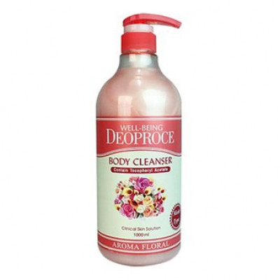 Гель для душа цветочный DEOPROCE WELL-BEING AROMA BODY CLEANSER FLORAL 1000мл: фото