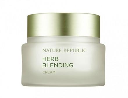 Крем для лица с травяными экстрактами NATURE REPUBLIC HERB BLENDING CREAM 50мл: фото