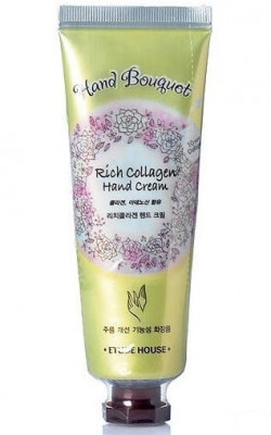Крем для рук с коллагеном ETUDE HOUSE Bouguet Rich collagen Hand Cream 50мл: фото