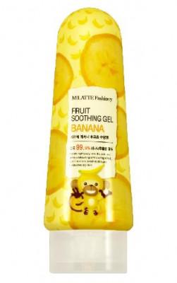 Гель многофункциональный с экстрактом банана MILATTE FASHIONY FRUIT SOOTHING GEL BANANA 200г: фото