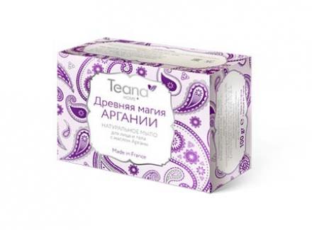 Натуральное мыло для сухой и чувствительной кожи лица и тела с маслом Арганы Teana 100г: фото