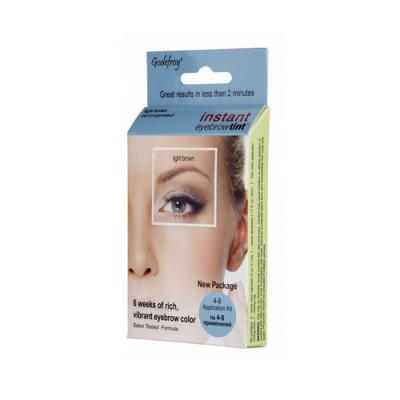 Краска-хна в капсулах для бровей Godefroy Eyebrow Tint Light Brown набор 15 капсул светло-коричневая: фото