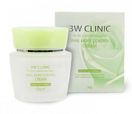 Крем для лица восстанавливающий с улиточным муцином 3W CLINIC Snail Moist Control Cream: фото