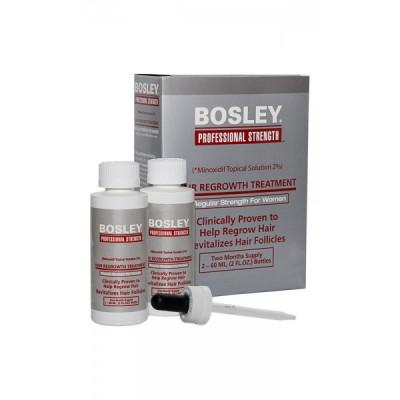 Усилитель роста волос Миноксидил для женщин Bosley Hair Regrowth Treatment Regular Strength for Women 2% 60мл*2: фото