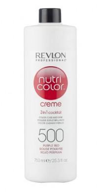 Краска для волос без аммиака Revlon Professional Nutri Color Creme 500 пурпурно-красный 750мл: фото