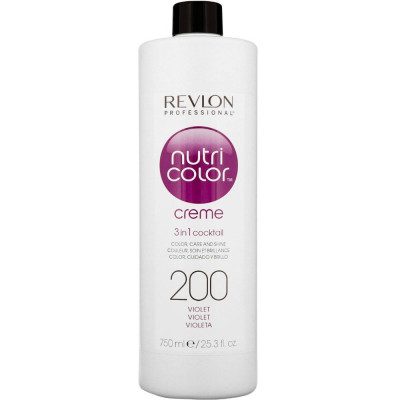 Краска для волос без аммиака Revlon Professional Nutri Color Creme 200 Фиолетовый 750мл: фото