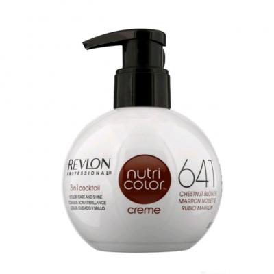 Краска для волос без аммиака Revlon Professional Nutri Color Creme 641 Каштаново Светлый 250мл: фото