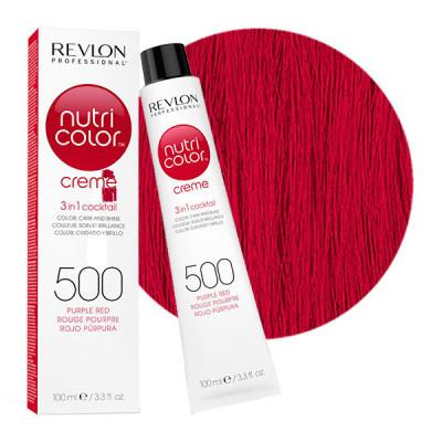 Краска для волос без аммиака Revlon Professional Nutri Color Creme 500 пурпурно-красный 100мл: фото