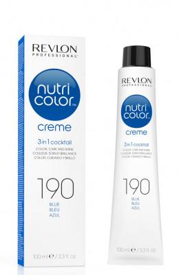 Краска для волос без аммиака Revlon Professional Nutri Color Creme 190 синий 100мл: фото