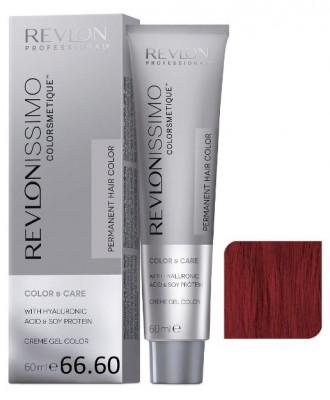 Краска перманентная Revlon Professional Revlonissimo Colorsmetique 66.60 Темный Блондин Насыщенно-Красный 60мл: фото