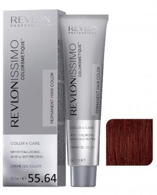 Краска перманентная Revlon Professional Revlonissimo Colorsmetique 55.64 Светло-Коричневый Красно-Медный 60мл: фото