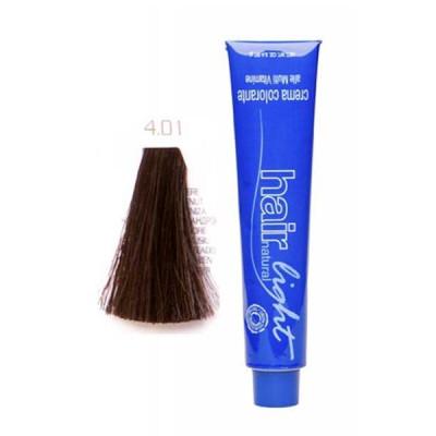 Крем-краска для волос Hair Company HAIR LIGHT CREMA COLORANTE 4.01 каштановый натуральный сандрэ 100мл: фото