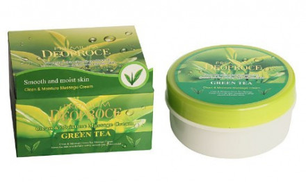 Крем массажный с зеленым чаем DEOPROCE PREMIUM CLEAN & MOISTURE GREEN TEA MASSAGE CREAM 300г: фото