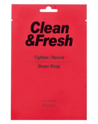 Тканевая маска для сужения пор EUNYUL CLEAN & FRESH TIGHTEN-REVIVE SHEET MASK 22мл: фото