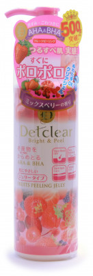 Пилинг-скатка с AHA- и BHA-кислотами с эффектом сильного скатывания Meishoku Detclear AHA & BHA Fruits Peeling Jelly Mixed Berry 180 мл: фото