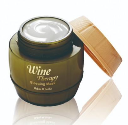 Маска-желе ночная с белым вином Holika Holika Wine Therapy Sleeping Mask White Wine 120 мл: фото