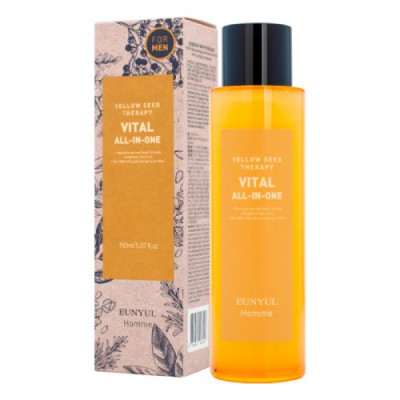 Многофункциональное витаминизирующее средство для ухода за кожей для мужчин EUNYUL YELLOW SEED THERAPY VITAL HOMME ALL-IN-ONE 150мл: фото