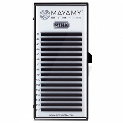 Ресницы MAYAMY MINK 16 линий D 0,10 12 мм: фото