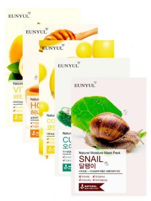 Набор тканевых масок Eunyul Экспресс-восстановление кожи 5 шт: фото