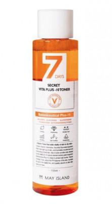 Тонер для лица MAY ISLAND 7Days Secret Vita Plus-10 Toner 155мл: фото