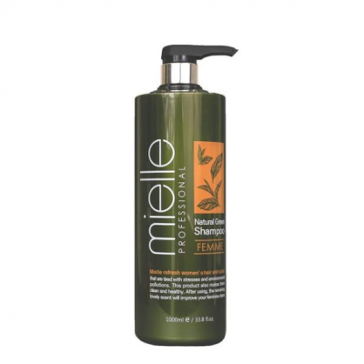 Шампунь для жирной кожи головы с ментолом JPS MIELLE Professional Natural Green Shampoo Femme 1000мл: фото