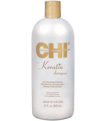 Шампунь кератиновый CHI Keratin Shampoo 946 мл: фото