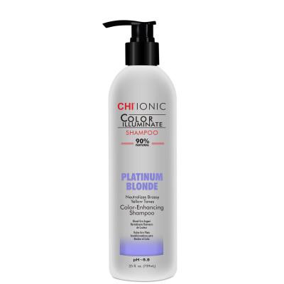 Шампунь тонирующий CHI Color Illuminate Platinum Blonde Shampoo платиновый блонд 739 мл: фото