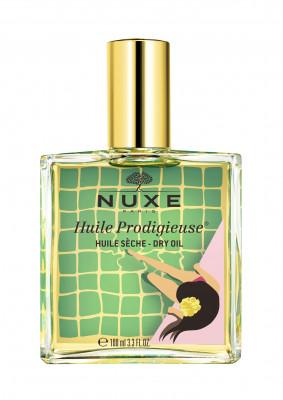 Масло сухое для лица, тела и волос Nuxe Huile Prodigieuse Florale желтое 100мл: фото