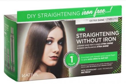 """Набор для выпрямления волос для тусклых волос с жемчугом и кератином Kativa IRON FREE """"Экстра-блеск"""": фото"""