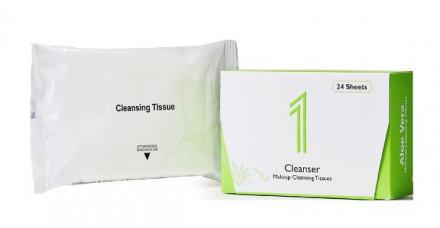 Салфетки для удаления макияжа 1 Cleanser Miracle Soft & Clean Aloe Vera 24 шт: фото