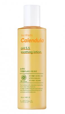 Успокаивающий лосьон с календулой MISSHA Su:Nhada Calendula pH Balancing & Soothing Lotion 145мл: фото