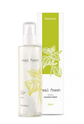 Тонер успокаивающий DEOPROCE REAL FRESH VEGAN CALMING TONER 210мл: фото