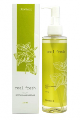 Пенка для умывания DEOPROCE REAL FRESH VEGAN DEEP CLEANSING FOAM 210мл: фото